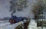 Claude Monet (Train in the Snow) Art Poster Print Masterprint