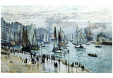 Claude Monet (Fishing Boats Leaving the Harbor, Le Havre) Art Poster Print Prints