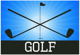 Golf Blue Sports Poster Print Photo