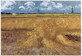 Vincent Van Gogh (Wheat Field) Art Poster Print Poster