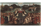 Hubert van Eyck (Ghent altar altar of the Mystic Lamb, main board, Scene One: The Adoration of the Print