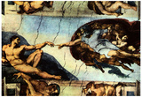 Michelangelo Buonarroti (Ceiling fresco of Creation in the Sistine Chapel, Main scene Poster Prints