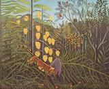 Henri Rousseau (Battle between Tiger and Buffalo) Art Poster Print Masterprint