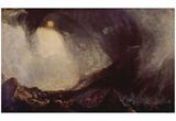 Joseph Mallord William Turner (Snow Storm: Hannibal and his master across the Alps) Art Poster Prin Posters