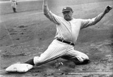 Babe Ruth Sliding Archival Photo Poster Print Masterprint