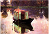 Claude Monet The Studio Boat Art Print Poster Billeder