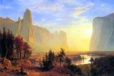 Albert Bierstadt Yosemite Valley Sun Rise Art Print Poster Masterprint