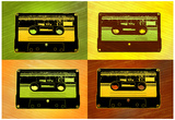 Audio Cassette Tapes Pop Art Print Poster Photo