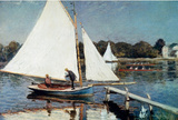 Claude Monet Sailing at Argenteuil Art Print Poster Masterprint
