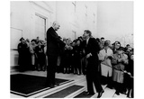 Dwight Eisenhower (Shaking Hands with John F Kennedy, 1961) Poster Photo
