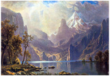 Albert Bierstadt Lake Tahoe Art Print Poster Posters