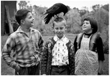 Kids with Crow 1963 Archival Photo Poster Posters