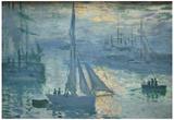 Claude Monet Sunrise 2 Art Print Poster Photo