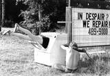 Appliance Repair Washing Machine Legs Archival Photo Poster Masterprint