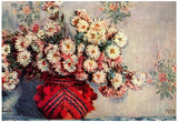 Claude Monet (Still-Life with Chrysanthemums) Art Poster Print Posters
