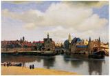 Jan Vermeer van Delft (View of Delft) Art Poster Print Print