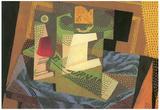 Juan Gris Fruit bowl on a Table Cloth Cubism Art Print Poster Print