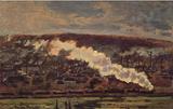 Claude Monet (The Train) Art Poster Print Masterprint