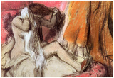 Edgar Degas Seated Female Nude on a Chaise Lounge Art Print Poster Photo