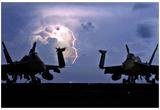 F/A-18C Hornets (Lightning) Art Poster Print Print