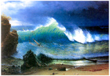 Albert Bierstadt The Coast of the Turquoise Sea Art Print Poster Posters