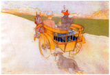 Henri de Toulouse-Lautrec Carriage with Dog Art Print Poster Prints