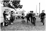 Kids Playing Cowboys and Indians Archival Photo Poster Poster