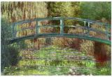 Claude Monet – Japonský most v Giverny – umělecká plakátová reprodukce Plakát
