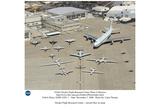 NASA (Dryden Flight Research Center, Aircraft Fleet on Ramp, 2008) Art Poster Print Prints