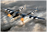 M F Winter Lockheed P-38 Lightning WWII Photo Print Poster Prints