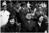 Babe Ruth and Wife Claire in Stands Archival Photo Sports Poster Print Prints