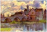 Alfred Sisley Bridge of Moret Art Print Poster Posters