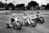 Kids on Big Wheels 1977 Archival Photo Poster Print
