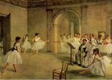 Edgar Germain Hilaire Degas (Ballet hall of the opera in the Rue Peletier) Art Poster Print Masterprint