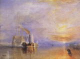 "Joseph Mallord William Turner (The last voyage of the ""Fighting Temeraire"") Art Poster Print Print"