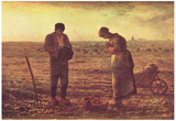 Jean-François Millet (II) (Evening Prayer) Art Poster Print Poster