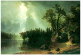 Albert Bierstadt Storm Over the Sierra Nevada Art Print Poster Posters