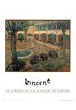 Vincent Van Gogh (Le Jardin De La Maison De Sainte) Art Print Poster Prints