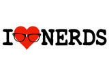 I Heart Nerds Humor Poster Prints