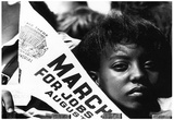 Civil Rights Demonstrator (With Penant) Poster Photo