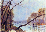 Alfred Sisley Bank of the Seine in Autumn Art Print Poster Prints