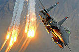 F-15E Strike Eagle (Launching Heat Decoys) Art Poster Print Masterprint