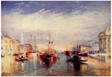 Joseph Mallord William Turner (Grand Canal in Venice) Art Poster Print Print