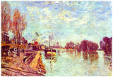 Alfred Sisley The Seine at Suresne Art Print Poster Posters