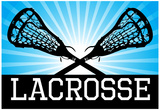 Lacrosse Blue Sports Poster Print Posters