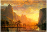 Albert Bierstadt Valley in Yosemite Art Print Poster Prints
