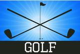 Golf Blue Sports Poster Print Masterprint
