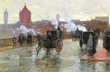 Childe Hassam Clearing Sunset Berkeley Street and Columbus Avenue Art Print Poster Masterprint