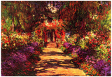 Claude Monet Path in Monet's Garden in Giverny Art Print Poster Posters