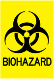 Biohazard Warning Art Poster Print Prints